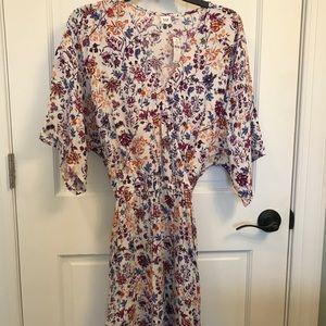 Gap size M Tall flutter sleeve dress